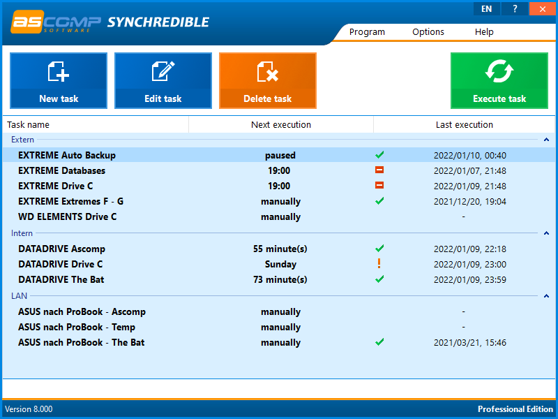 Synchredible screenshot